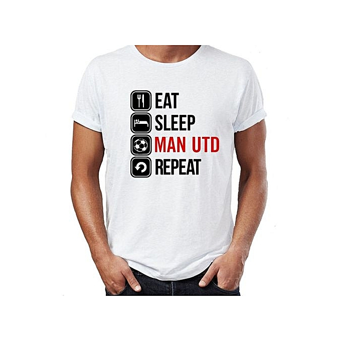 0b2f9323ed6 Generic Fashion Eat Sleep Manchester United T Shirt Classic Tops Tee ...
