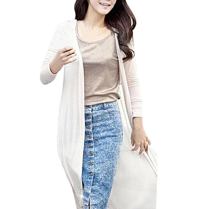 5d0154b80777e Women Boho Beach Chiffon Long Cardigan Kimono Coat Tops Kaftan Maxi Coat