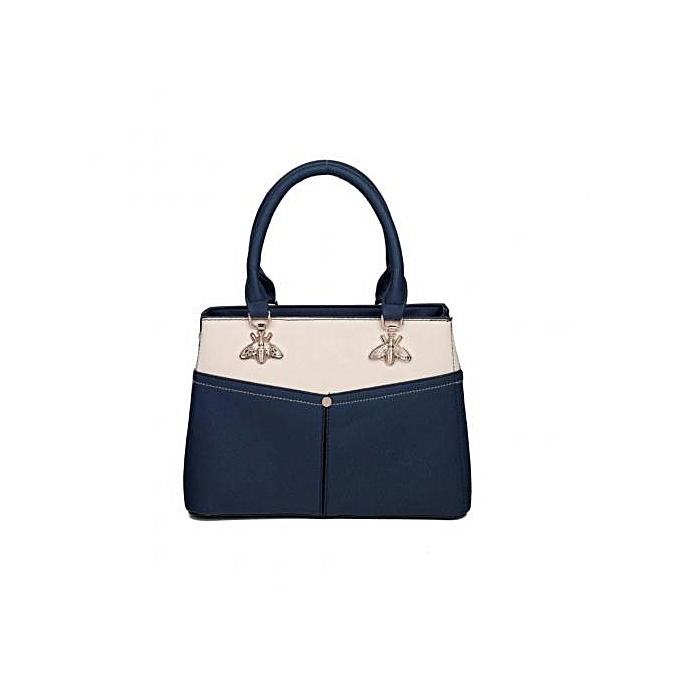 f26890d53534 Generic Classy single handbag-Navy blue and cream   Best Price ...