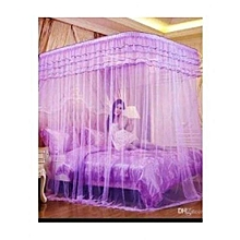 Mosquito Net With 2 Stands With Rails - 6X6 - Purple