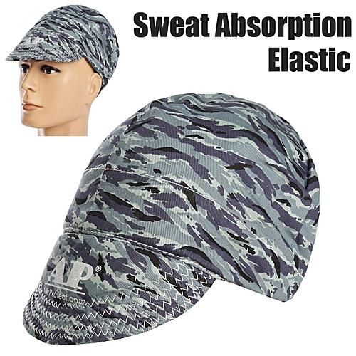 Generic Universal Sweat Absorption Elastic Welding Welder Hat Cap Soft Camo  Pure Cotton 1e4f2e84545