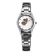 Dress Watch Clock Womens Stainless Steel Watchband Strap Womans Ladies Fashion Casual Quartz Wristwatch Clock