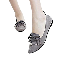 tassel pointed toe flat fashion shoes for ladies
