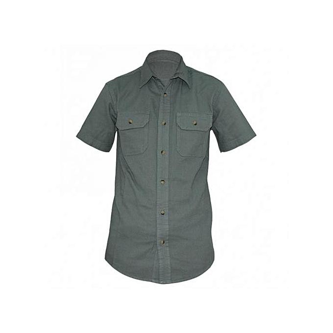 Green Mens Short Sleeved Shirts