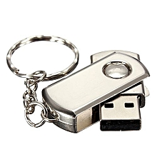 64GB USB 2.0 Silver Metal Swivel Flash Memory Stick Storage Thumb Pen Drive