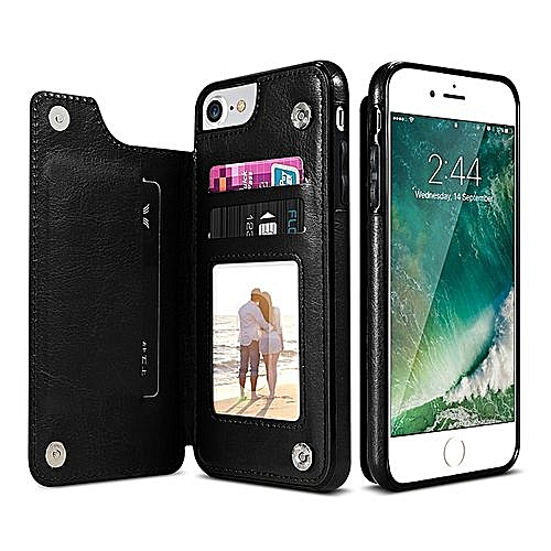 buy popular f0375 cb330 PU Leather Retro Case For IPhone 7 6 6s 8 Plus Multi Card Holders Phone  Cases For IPhone X 10 7 6s Cover