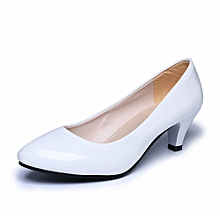 Nude Shallow Mouth Women Office Work Heels Shoes Elegant Ladies Low Heel WH/35