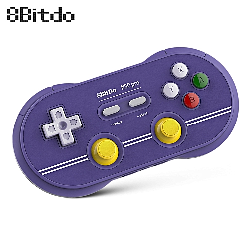 8Bitdo N30 Pro 2 Wireless Bluetooth Controller Gamepad with Joystick -  PURPLE