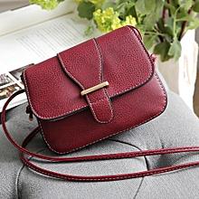 bluerdream-Womens Leather Purse Satchel Cross Body Shoulder Bag Messenger Bag WE-Wine Red
