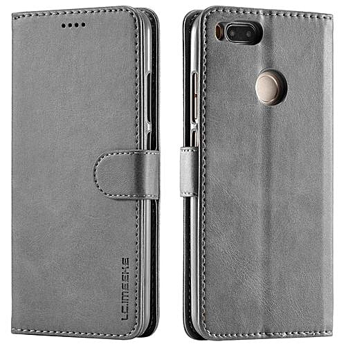 best sneakers 85f97 b112e Xiaomi Mi A1 Case, [Shockproof] Flexible Premium PU Leather Flip Case Slim  Durable TPU Anti-Scratch Protective Cover for Xiaomi Mi A1/Mi 5X