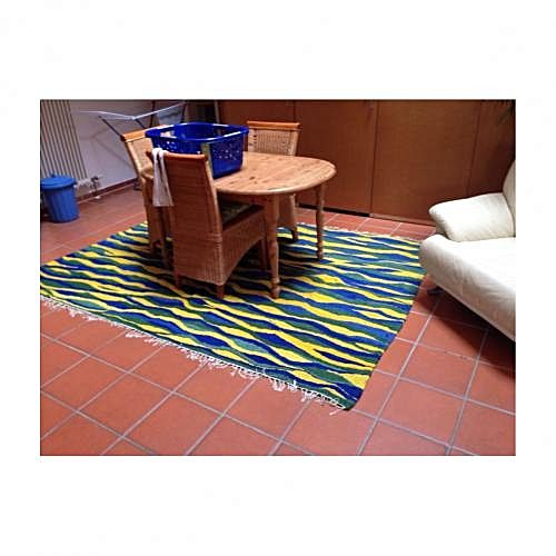 Nwc designs green and yellow rug buy online jumia kenya for Home decorations on jumia