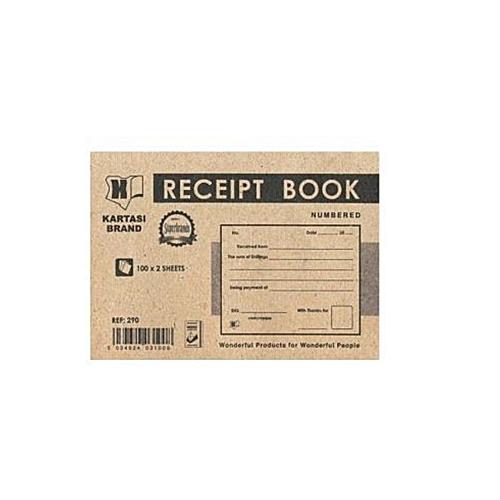 buy generic kartasi receipt book 100 x 2 sheets best price online