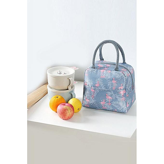 Boutique Korean Lunch Box Bag Cooler Handbag With Rice Handkerchief