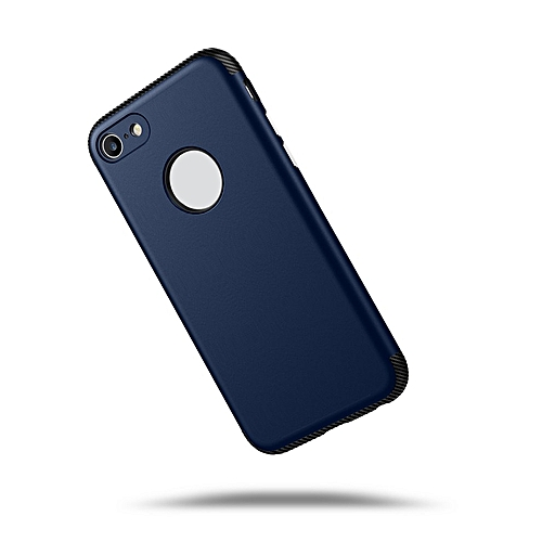 free shipping db038 71c30 HP-TPU + PC Carbon Fiber Matte Phone Case Back Cover Bumper Case for iphone  X Navy Blue