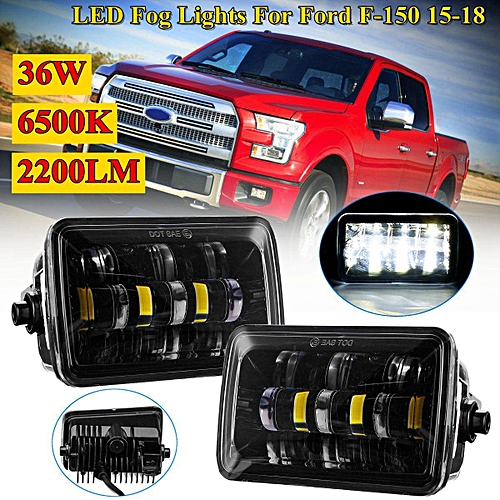 Pair W K Lm Front Led Fog Lights Lamps For Ford F