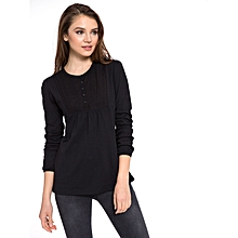 Black Fashionable Solid Standard T-Shirt