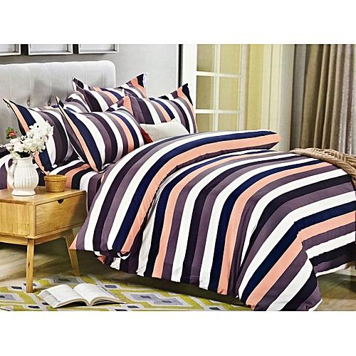 4pc Duvet Cover Set 5x6 Multicolored Striped