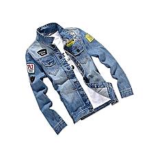 Autumn Mens Denim Jacket Slim Men Clothes Korean Denim Clothing Men Jacket Coat (China Size)