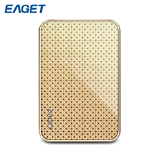 EAGET MS608 2.5 inch Solid State Drive USB 3.0 Mini SSD - GOLDEN