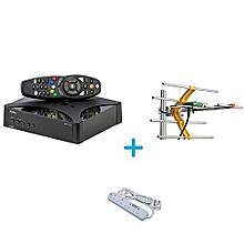 Go TV Digital Decoder - Plus Free Go Tv Aerial - Plus Free Heavy Duty Power Extension