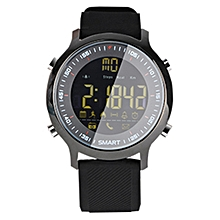 EX18 Smart Sports Watch FSTN Full View Screen Luminous Dial High Tensile TPU Strap, Support Steps Counting / Burned Calory / Calendar Date / Bluetooth 4.0 / Incoming Call Reminder / Low Battery Reminder - Black