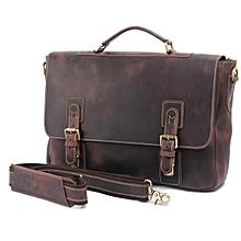 Vintage Official Leather Laptop  Bag
