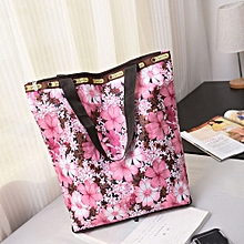 guoaivo Floral Printed Canvas Tote Shopping Bags Large Capacity Canvas Beach Bag P