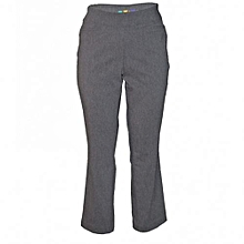 Med Grey Straight Leg Pull On Pants
