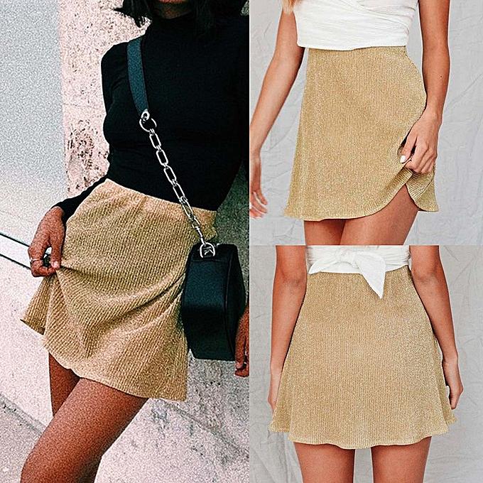 8b8634bd0d jiahsyc store Fashion Womens Casual Sexy Skirt Loose Mid Waist Pajama Skirt  Beach Skirt