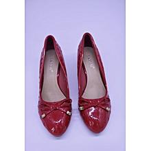 Red  Ladies Heel Shoes