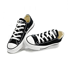 Black n White Canvas Rubber Shoes