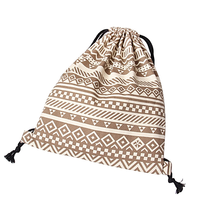 95a7b12578 Unisex Retro Geometric Backpacks Printing Bags Drawstring Backpack