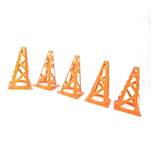 5PCS/Set 23cm Training Sport Safety Traffic Marker Cone Football Roller