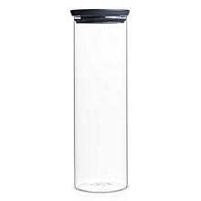 298240 - Stackable Glass Jar 1.9L - Dark Grey