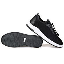 Men's Breathable Mesh Sport Shoes-Black