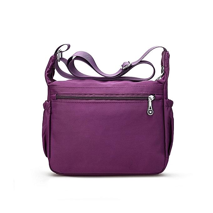 Fashion Women Nylon Multilayer Zipper Pockets Shoulder Bags Light Crossbody  Bags Messenger Bags a04c2ed0f0e63