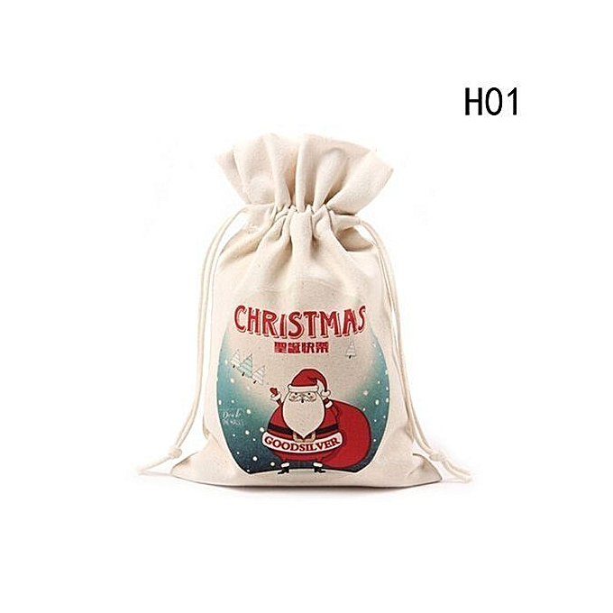 ba1e328b8ce5 Chrismas Santa Claus Kids Candy Gift Bags Handbag Pouch Wedding Sack  Present Bag Christmas Decoration Drawstring Bag