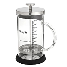 French Press Coffee Maker Leaf Tea Carafe Stainless Steel Filter Glass 6 Cups