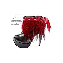 NGOMA Feather Cuff - Multi Purpose Jewellery - Scarlet
