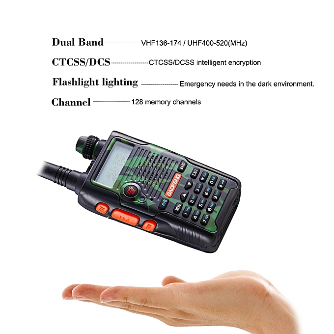 BAOFENG Pofung UV-5R Walkie Talkie Two-way Radio 136-174/400-520MHz VHF/UHF  Dual Band Handheld Radio Transceiver Interphone 128 Memory Channels Voice