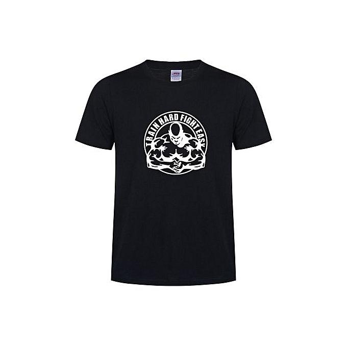fee4d9dec0ff5 Men's Fashion T-shirt Summer European TRAIN HARD Short Sleeve Best European  Size S-