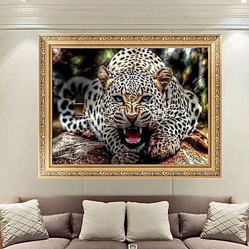 5d Diamond Painting Quiet Leopard Animal Cross Sch Diy Home Decor