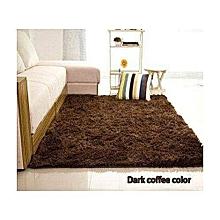 Easy To Clean Fluffy/Shaggy Carpet - 7x10- Dark Coffee