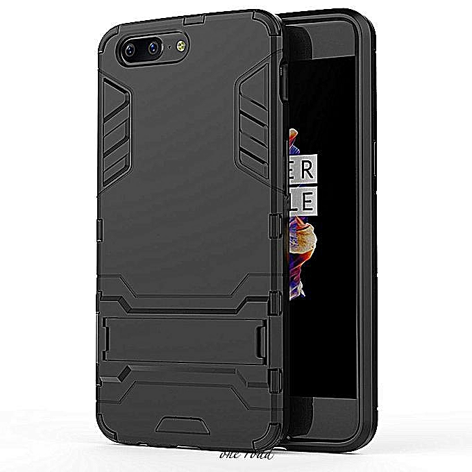 new arrival ecdce f678b Oneplus 5 PC+TPU Back Armor Covers 5.5 Inch Phone Bags Cases For Oneplus 5  One Plus 5 1+5 A5000 Holder (Black)