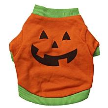 Halloween Pet Puppy dog Shirt Tops Pumpkin Costumes S-Ashow