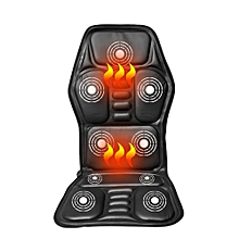 Heated Back Massage Chair Seat Car Home Office Seat Neck Massager Heat Vibrate Cushion