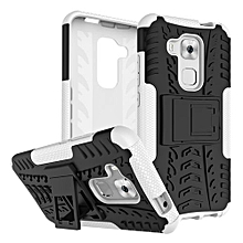 "[Nava Plus] Case, Hard PC+Soft TPU Shockproof Tough Dual Layer Cover Shell For 5.5"" Huawei [G9 Plus], White"