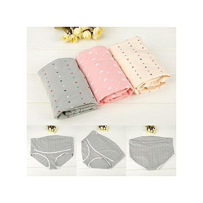 b03ceb8327e7e 3Pcs/Lot Cotton Maternity Panties Underwear Underpants High Waist Briefs  For Pregnant Women