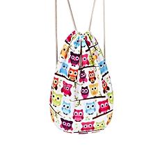 a9b8ad0923 jiuhap store Fashion Unisex Cartoon Drawstring Bag Travel Backpack Bundle  School Pocket-AS Shown