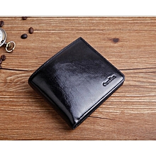 Men Soft genuine leather wallets black